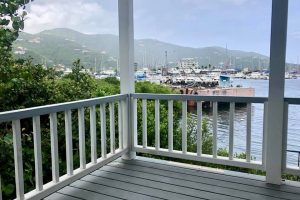 balcony of penthouse in Road Town British virgin islands