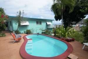 pool area of lime tree house tortola remax british virgin islands