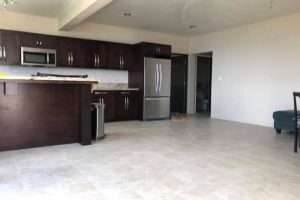 kitchen area spacious 2 bedroom in Fahie hill tortola bvi remax best priced properties