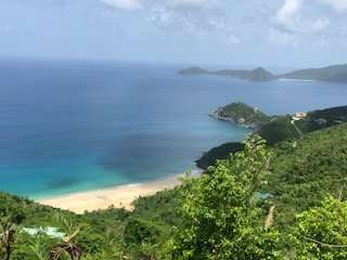 ocean front view trunk bay land tortola British Virgin Islands bvi